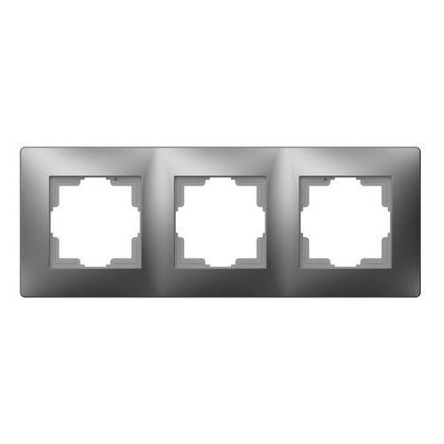 Ramka potrójna Elektro-Plast Volante grafitowa (5902012986097)
