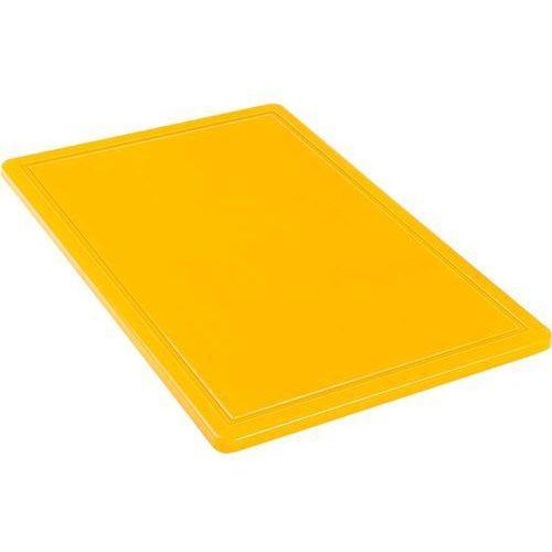 Stalgast Deska do krojenia 600x400x18 mm żółta 341633
