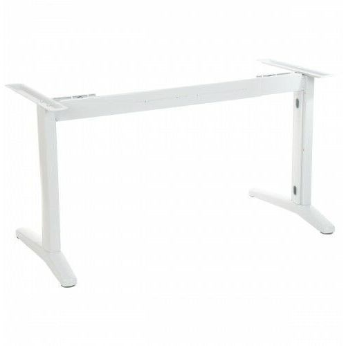 Stelaż metalowy biurka z rozsuwaną belką STL-01, kolor biały