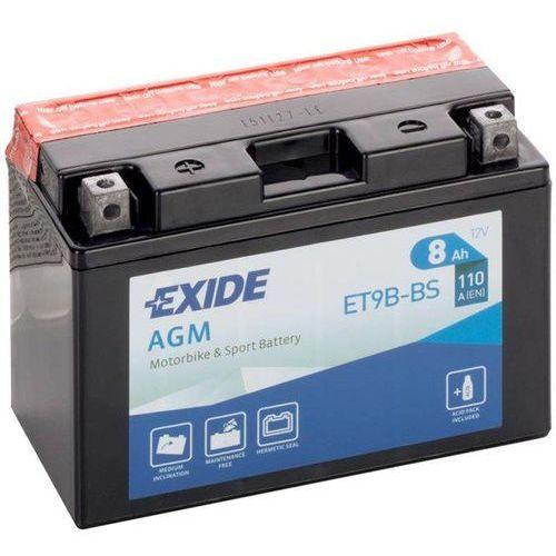 Akumulator motocyklowy et9b-bs/ yt9b-bs 12v 8ah 110a en l+ marki Exide