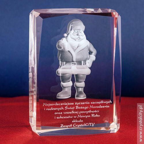 Święty Mikołaj 3D • personalizowana statuetka 3D średnia • GRAWER 3D