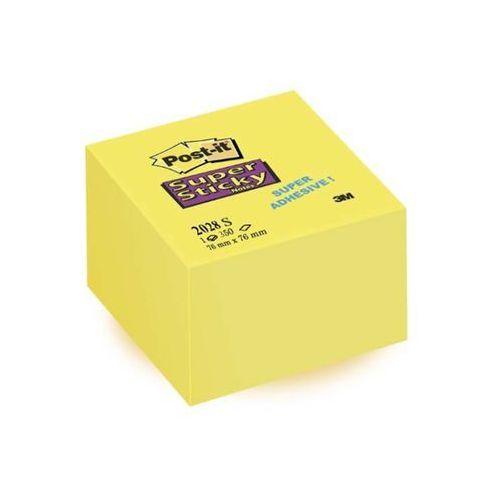 Post-it bloczki samoprzylepne super sticky żółte, kostka 76x76mm 350 kartek marki 3m