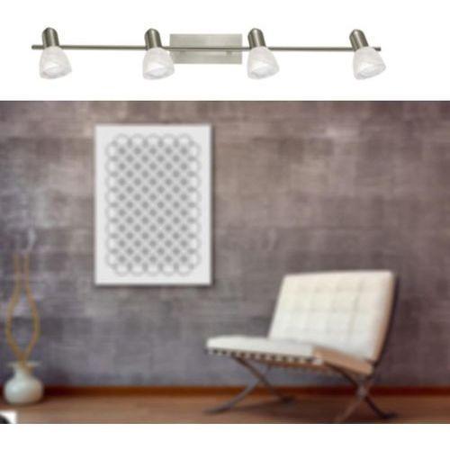 Eglo Listwa ares 86216 lampa sufitowa plafon spot 4x40w e14 satyna/nikiel