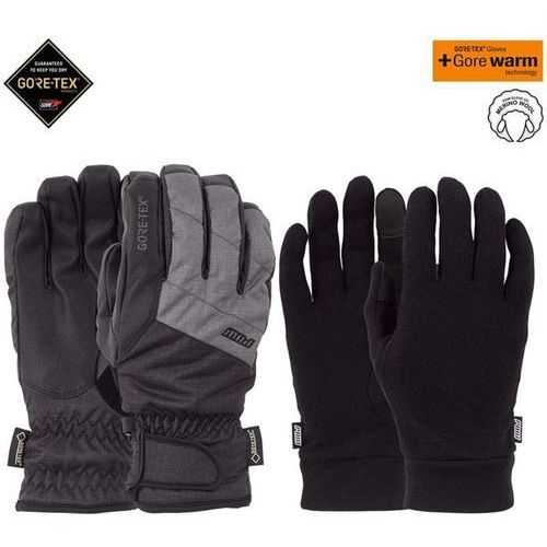 POW - Warner GTX Short Glove + WARM Charcoal (CH) rozmiar: L