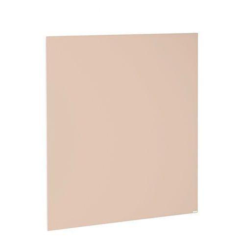 Szklana tablica suchościeralna, 1000x1000 mm, pudrowy różowy