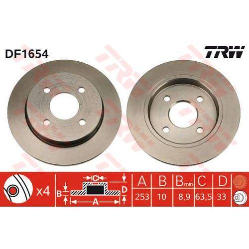 Trw Tarcza ham df1654 ford focus 1.4 16v, 1.6 16v, 1.8 16v, 2.0 16v 98-04, 1.8tdci 02-04 (3322936165408)