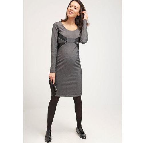 MAMALICIOUS MLCLEA Sukienka z dżerseju medium grey melange z kategorii Sukienki ciążowe