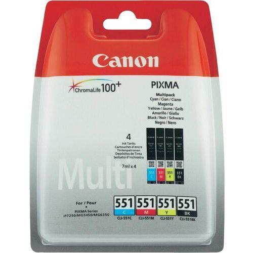 Canon 4 x tusz CMYK CLI-551, CLI551, 6509B009, 6509B008, CLI-551