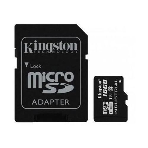 industrial temperature uhs-i u1 16 gb, microsdhc, flash memory class 10, sd adapter marki Kingston