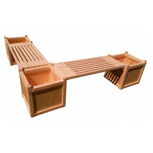 Drewniana donica ogrodowa z siedziskiem narożna - Tempra, Donica-drewniana-nr-71