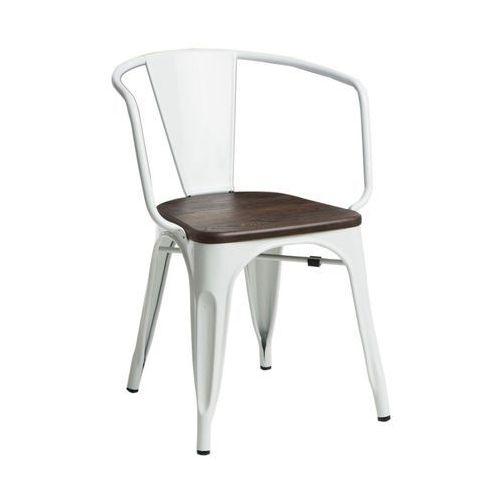 D2.design Krzesło paris arms wood białe sosna szcz otkowana modern house bogata chata