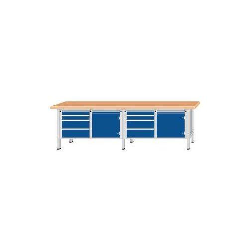 Anke werkbänke - anton kessel Stół warsztatowy, bardzo szeroki,2 drzwi, 8 szuflad z częściowym wysunięciem