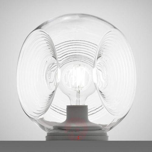 Fabbian Eyes – lampa stołowa, przezroczysty dyfuzor