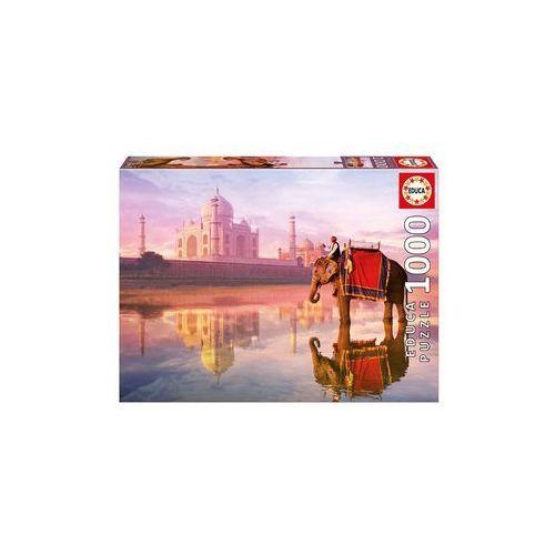 Educa Puzzle 1000 elementów, elephant at taj mahal - darmowa dostawa od 199 zł!!! (8412668167568)