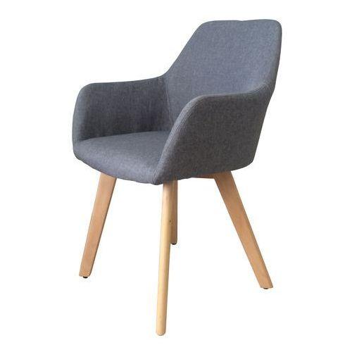 Nowoczesne krzesło tapicerowane z podłokietnikami Monaco grey, QS-D4062-3