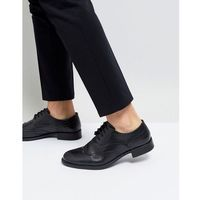 Frank wright milled brogue boots black leather - black