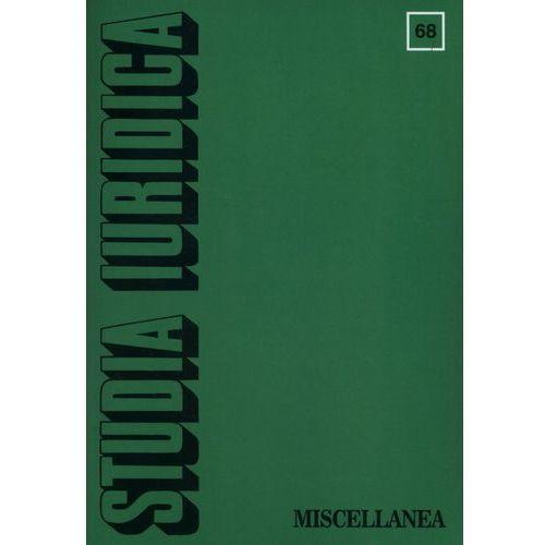 Studia Iuridica 68 (9788323527985)