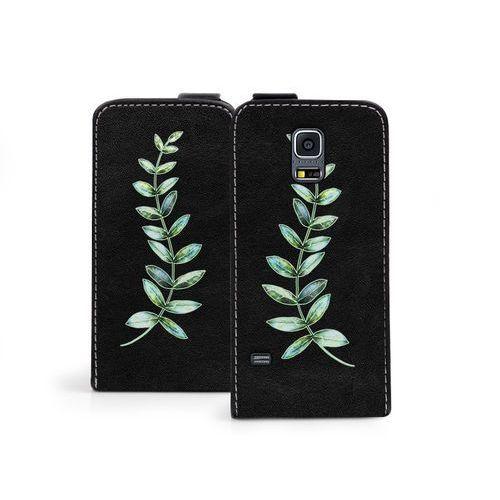 Etuo flip fantastic Samsung galaxy s5 mini - etui na telefon flip fantastic - zielona gałązka