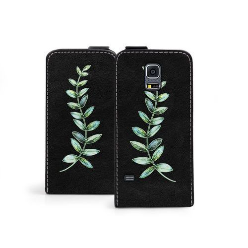 Samsung Galaxy S5 Mini - etui na telefon Flip Fantastic - zielona gałązka, ETSM119FLFCEF003000