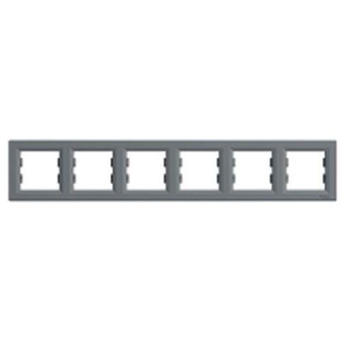 Ramka sześciokrotna Schneider Asfora EPH5800662 pozioma stal (3606480730733)