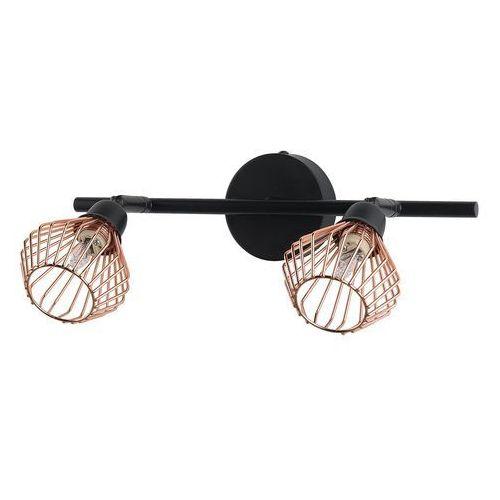 Lampa sufitowa czarna/miedziana VOLGA S