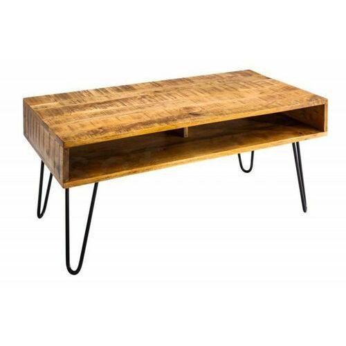 INVICTA stolik kawowy SCORPION 100 cm - naturalne mango, drewno, żelazo