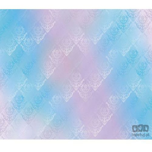 Fototapeta tradycyjne kwiatowe wzory – niebiesko-różowe odcienie 1466 marki Consalnet