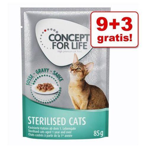 9 + 3 gratis! Concept for Life, 12 x 85 g - All Cats 10+ w galarecie| Wygraj iPhona XS - tylko w tym tygodniu | Dostawa GRATIS od 89 zł
