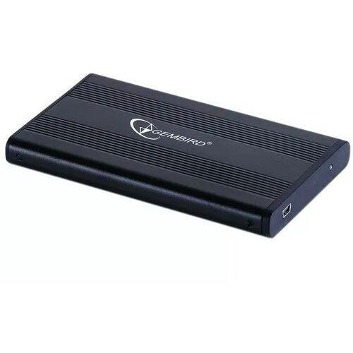"""OBUDOWA HDD ZEWNĘTRZNA SATA GEMBIRD 2.5"""" USB 2.0 ALUMINIUM CZARNA EE2-U2S-5"""