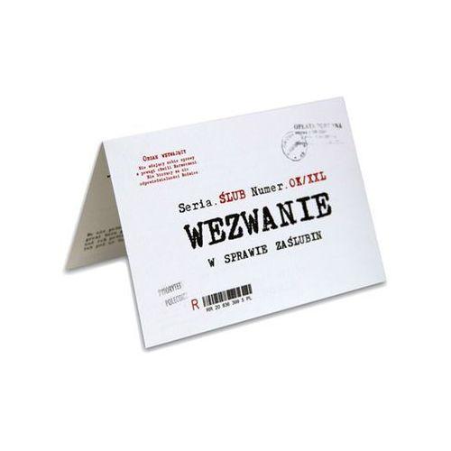 Zaproszenie z kopertą Wezwanie w sprawie zaślubin - 1 szt.