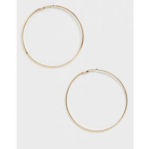 Pieces oversized hoop earring - gold