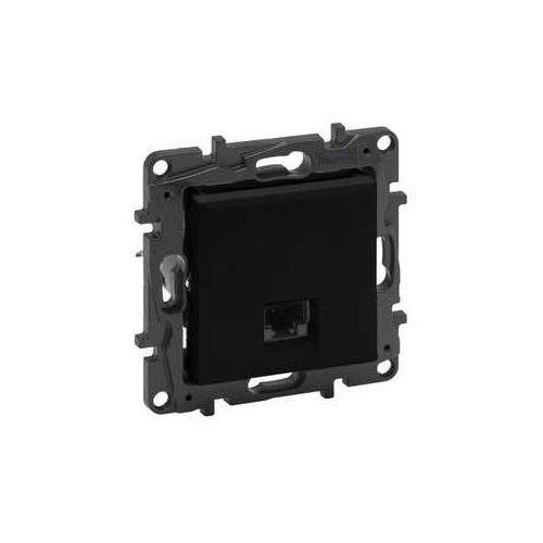 Legrand Gniazdo teleinformatyczne niloe step 863565 rj45 kat. 6 stp pojedyńcze czarne (3414971842625)