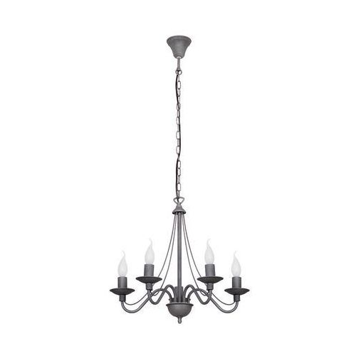 Lampa wisząca świecznikowa zwis Aldex Róża 5x40W E14 szara 397F19