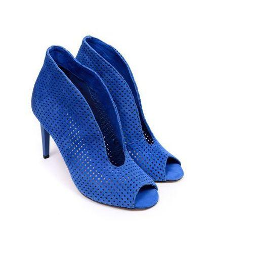 Botki damskie Carinii B3465M-E91 suede 0329 38 niebieski, kolor niebieski