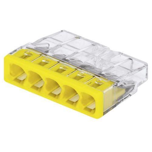Wago szybkozłączka compact 5x0,5-2,5mm2 transparentna 2273-205