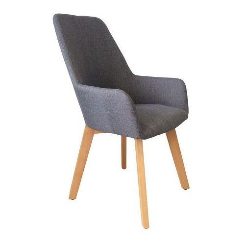 Krzesło tapicerowane z podłokietnikami Nord grey, kolor szary