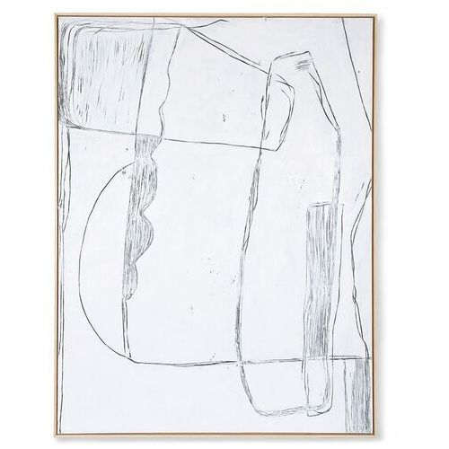 obraz brutalism biały 120x160cm awd8917 marki Hkliving