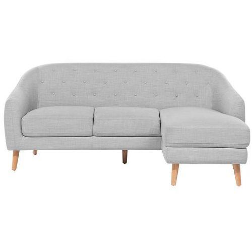 Sofa narożna tapicerowana jasnoszara ivalo marki Beliani