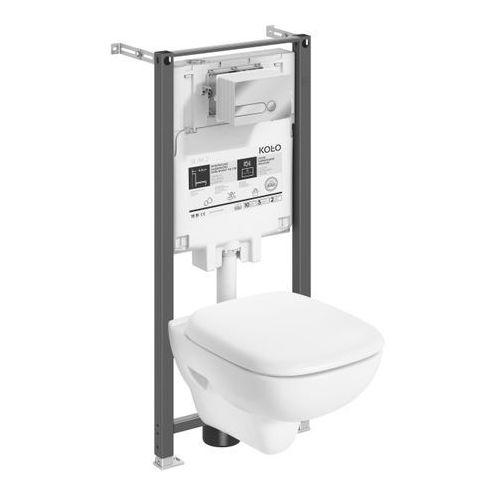 Zestaw podtynkowy WC Koło Slim Style bezkołnierzowy z deską wolnoopadającą