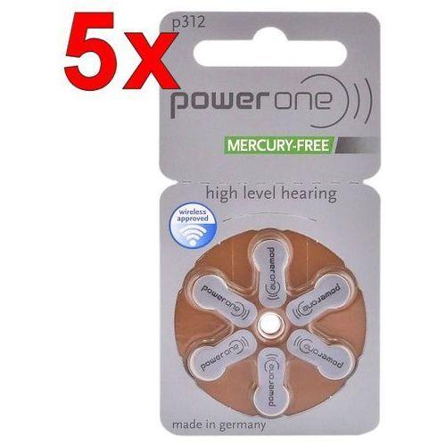 30 x baterie do aparatów słuchowych power one 312 mf marki Varta