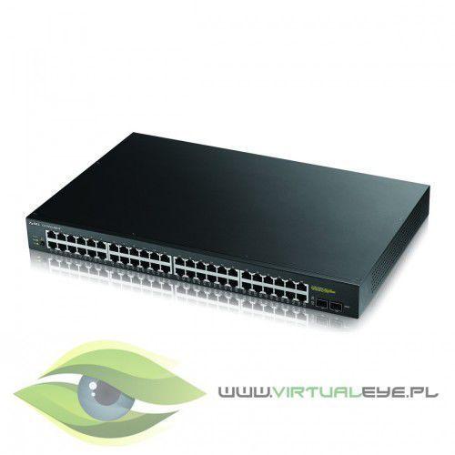 GS1900-48HP 48-port Gigabit (48x10/100/1000 PoE + 2 x SFP), IPv6. 802.3az (Green), 802.3at (170W), GS1900-48HP-EU0101F