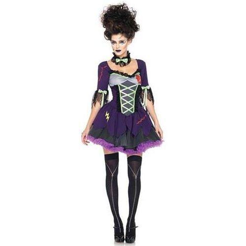 """_xx_Strój """"Dziewczyna Frankensteina"""", (sukienka, kokarda na szyję), rozm. ML"""