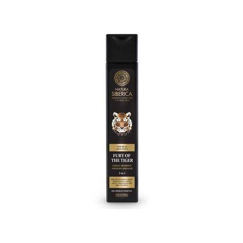 Natura siberica men - energetyzujący szampon do mycia włosów i ciała 2w1 wściekłość tygrysa