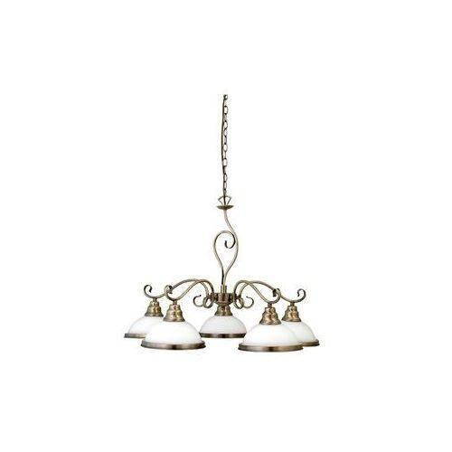 Lampa wisząca zwis oprawa Rabalux Elisett 5X60W E27 brązowa 2755, kolor Brązowy