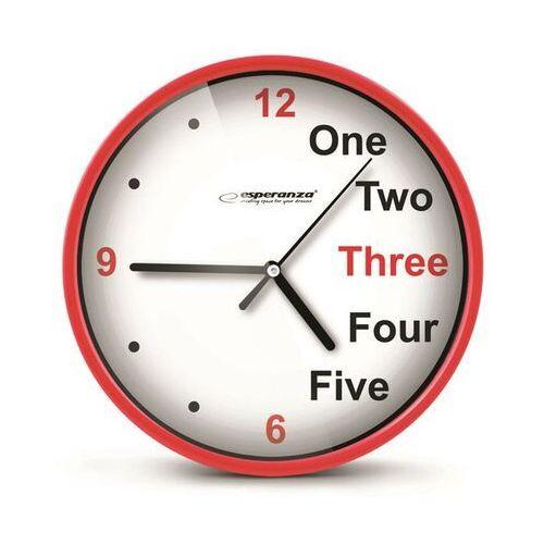 zegar ścienny prague czerwony darmowa dostawa do 400 salonów !! marki Esperanza