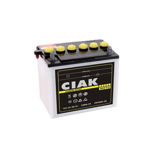 Ciak Akumulator motocyklowy 12n24-3a 12v 24ah 240a p+