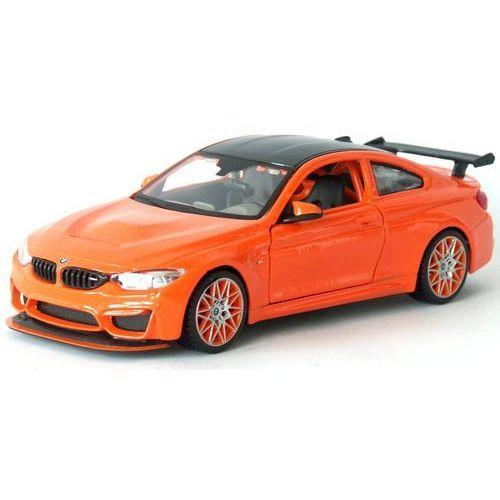 model samochodu bmw m4 gts 1:24, pomarańczowy marki Maisto