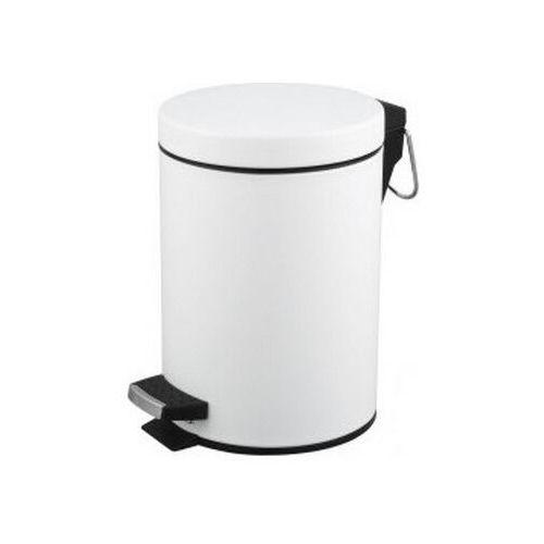 Kosz na śmieci biały do łazienki 5l Kosz na odpadki biały otwierany przyciskiem nożnym, kolor biały