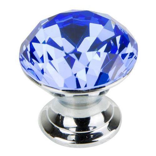 Gałka ava kryształowa okrągła fi 35 mm niebieska marki Schaffner