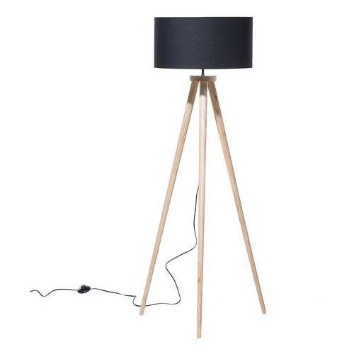 Lampa stojąca - podłogowa w kolorze czarnym - oświetlenie - NITRA (7081459775735)